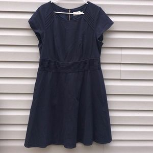 Eliza J   Plus Navy Fit and Flare Dress size 16W